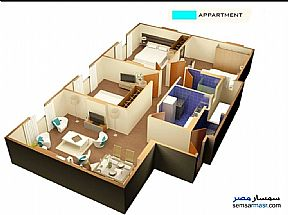 Ad Photo: Apartment 3 bedrooms 2 baths 140 sqm semi finished in Giza District  Giza