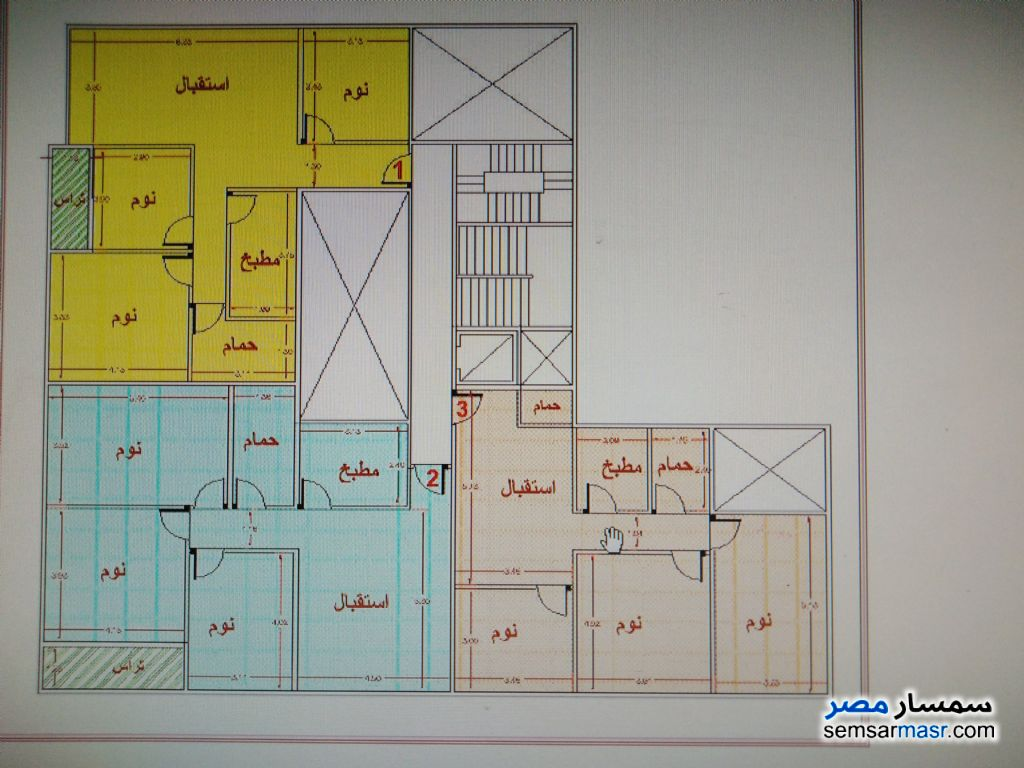 Photo 1 - Apartment 3 bedrooms 1 bath 125 sqm without finish For Sale Halwan Cairo