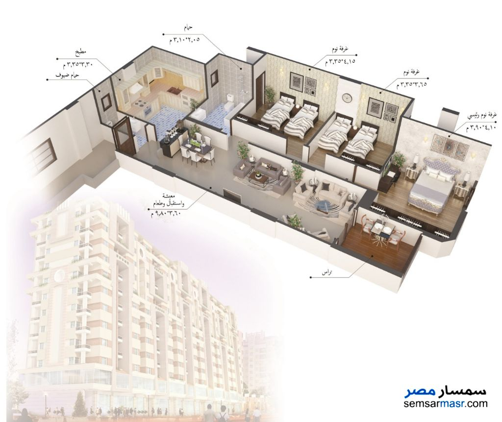 Photo 11 - Apartment 3 bedrooms 2 baths 175 sqm semi finished For Sale Fifth Settlement Cairo