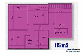Ad Photo: Apartment 3 bedrooms 1 bath 115 sqm semi finished in Banha  Qalyubiyah
