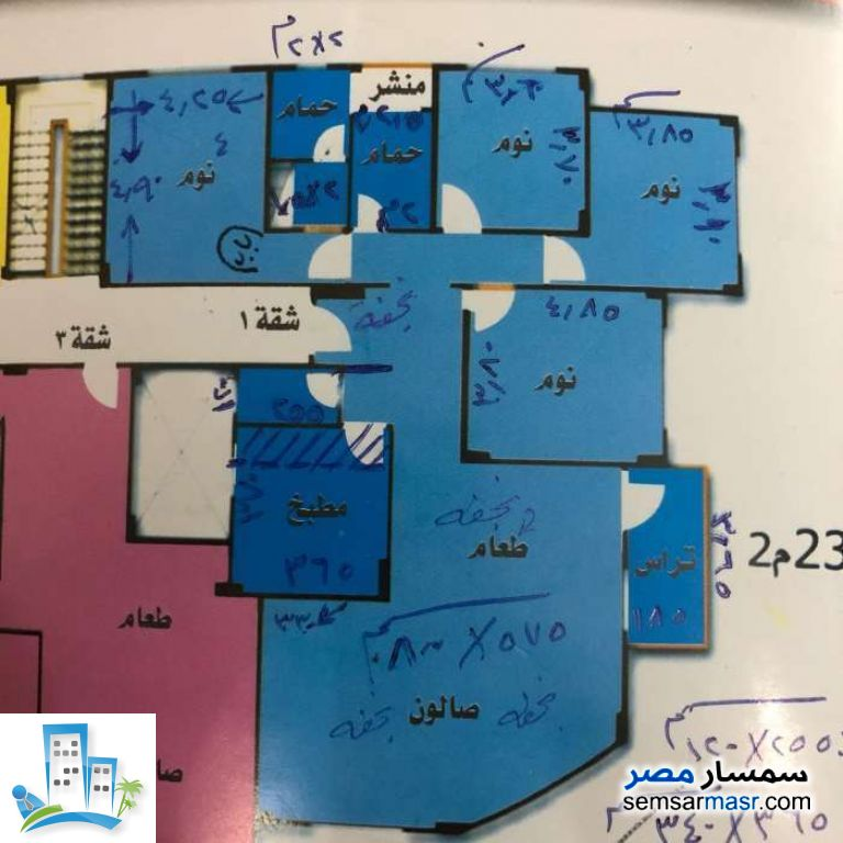 Apartment 4 bedrooms 2 baths 235 sqm extra super lux For Sale North Extensions 6th of October - 4