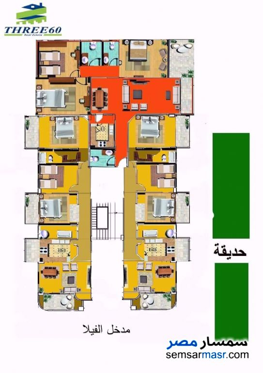 Photo 4 - Apartment 3 bedrooms 2 baths 188 sqm semi finished For Sale Shorouk City Cairo