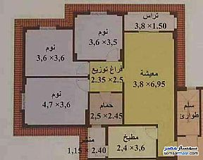 Apartment 3 bedrooms 1 bath 120 sqm lux For Sale Future City Cairo - 2