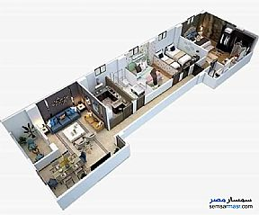 Apartment 3 bedrooms 2 baths 160 sqm semi finished For Sale Badr City Cairo - 6