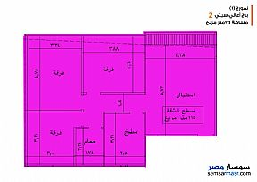 Apartment 3 bedrooms 1 bath 135 sqm semi finished For Sale Banha Qalyubiyah - 1