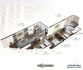 Apartment 3 bedrooms 1 bath 140 sqm semi finished For Sale Talkha Daqahliyah - 7