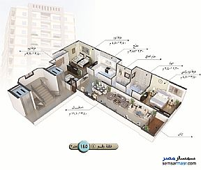Apartment 3 bedrooms 1 bath 140 sqm semi finished For Sale Talkha Daqahliyah - 10