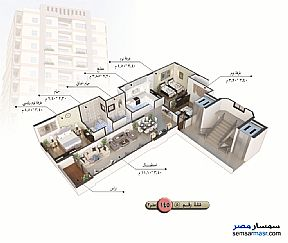 Apartment 3 bedrooms 1 bath 140 sqm semi finished For Sale Talkha Daqahliyah - 11