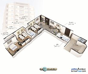 Apartment 3 bedrooms 1 bath 140 sqm semi finished For Sale Talkha Daqahliyah - 12