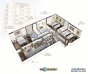 Apartment 3 bedrooms 1 bath 140 sqm semi finished For Sale Talkha Daqahliyah - 13