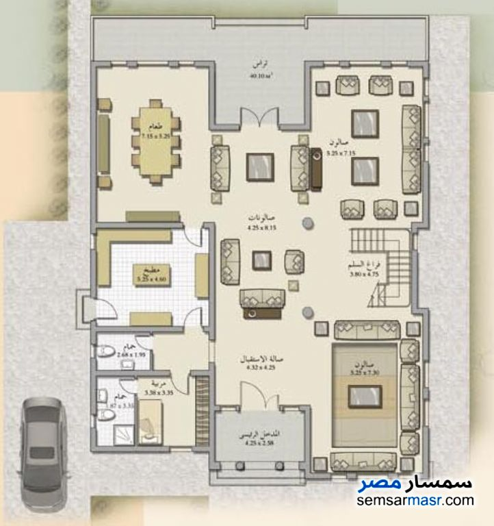 Photo 6 - Villa 6 bedrooms 6 baths 860 sqm semi finished For Sale Rehab City Cairo