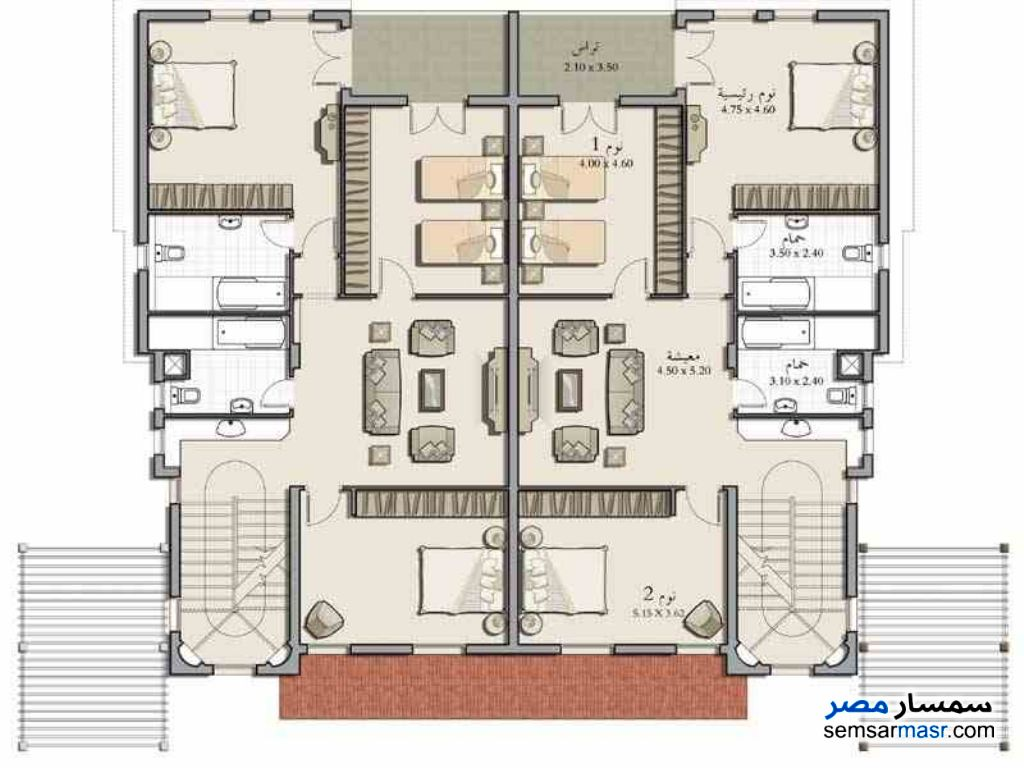 Photo 2 - Villa 3 bedrooms 3 baths 450 sqm without finish For Sale Madinaty Cairo