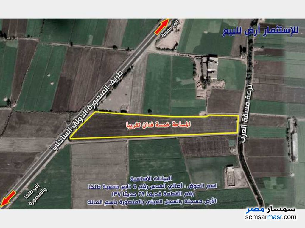 Ad Photo: Farm 5 acre in Mansura  Daqahliyah