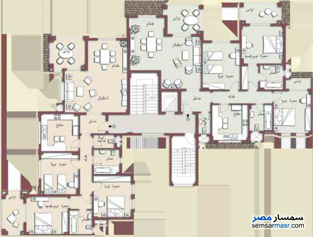 Photo 4 - Apartment 3 bedrooms 3 baths 157 sqm super lux For Sale Madinaty Cairo