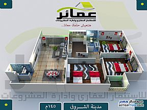 Ad Photo: Apartment 3 bedrooms 2 baths 145 sqm semi finished in Shorouk City  Cairo