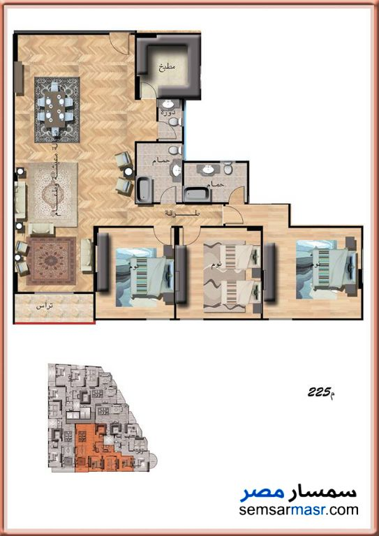 Photo 1 - Apartment 3 bedrooms 3 baths 225 sqm extra super lux For Sale Sidi Gaber Alexandira