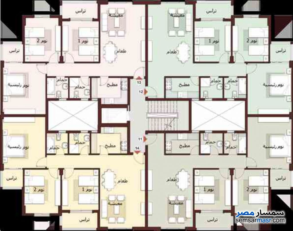 Photo 2 - Apartment 3 bedrooms 2 baths 116 sqm without finish For Sale Madinaty Cairo