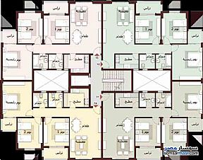 Apartment 3 bedrooms 2 baths 116 sqm without finish For Sale Madinaty Cairo - 2